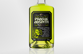 The same colour, the same drink, but a different style, promoting a luxurious Absinthe image.