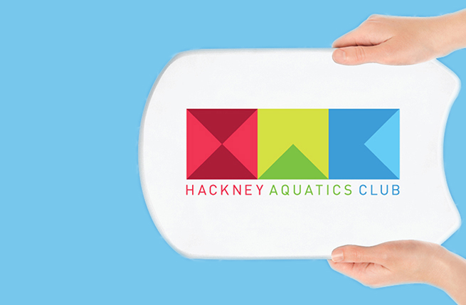 New branding for a water sports club that makes its team members and athletes unmissable at every event. Hackney Aquatics Club or HAC is the new incarnation of what was formerly the Clissold Swimming Club.
