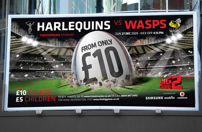 harlequins billboard